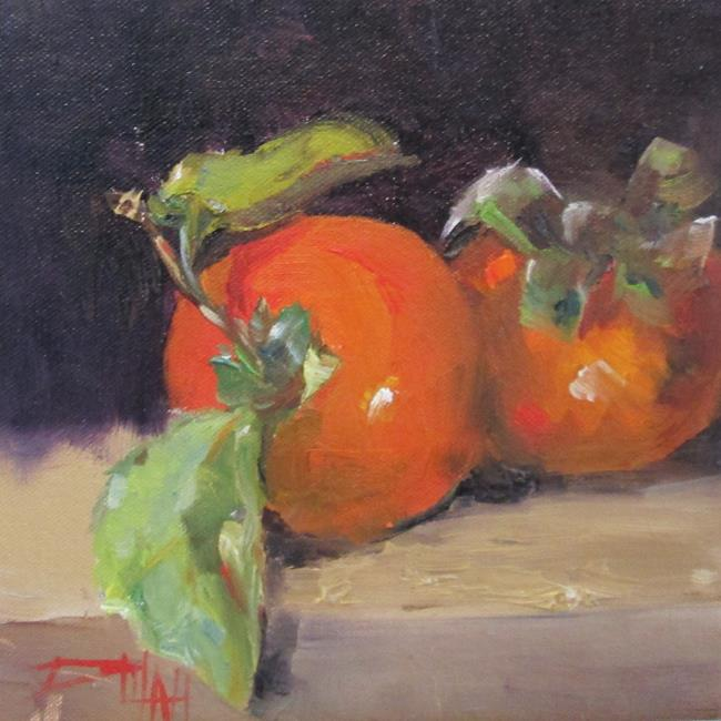Art: Persimmons by Artist Delilah Smith