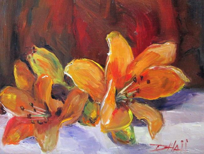Art: Lilies by Artist Delilah Smith