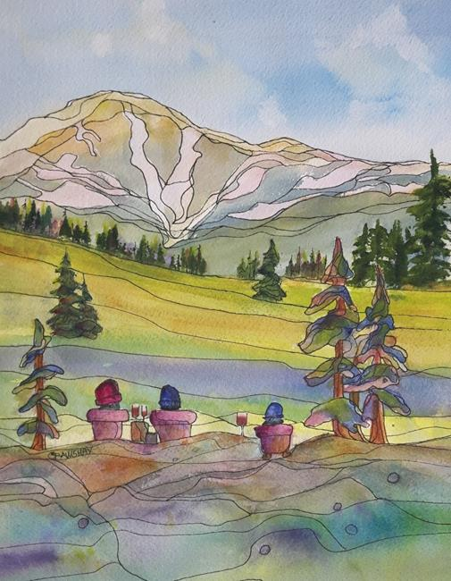 Art: View of Raft Mountain (sold) by Artist Kathy Crawshay