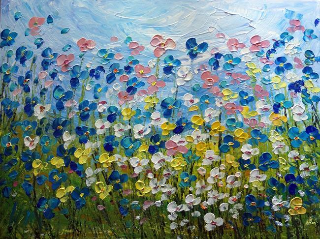 Art: Wildflowers  custom painting by Artist LUIZA VIZOLI