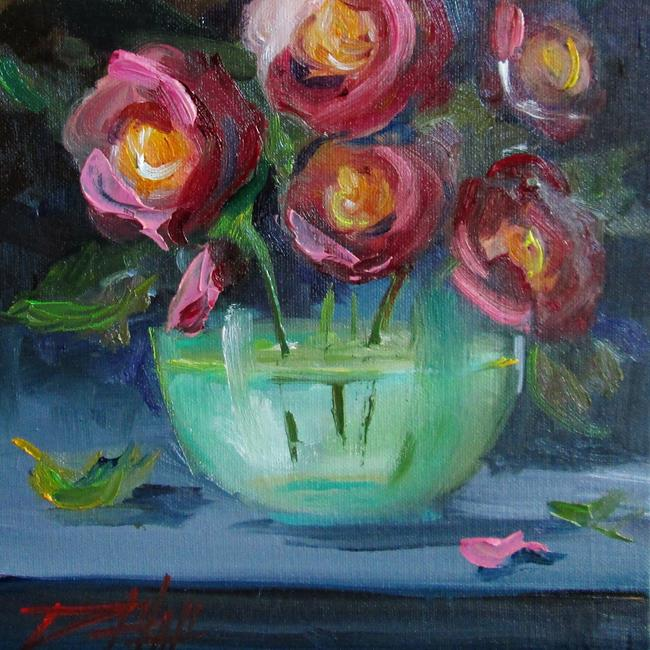 Art: Roses in Water by Artist Delilah Smith