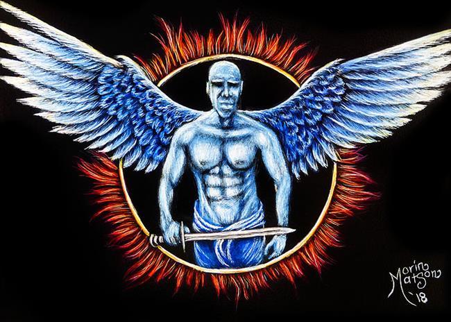 Art: Guardian Angel  (SOLD) by Artist Monique Morin Matson