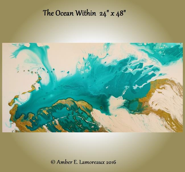 Art: The Ocean Within (sold) by Artist Amber Elizabeth Lamoreaux
