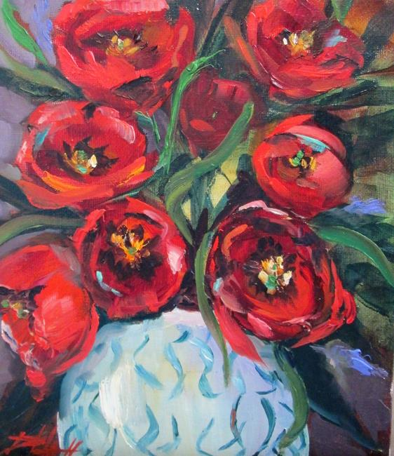 Art: Red Tulips by Artist Delilah Smith