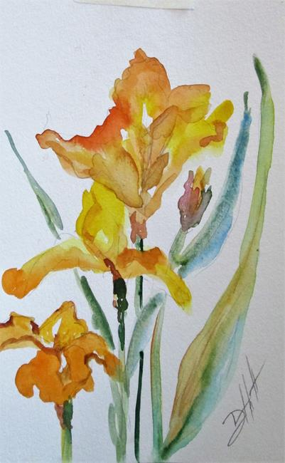Art: Bright Iris by Artist Delilah Smith