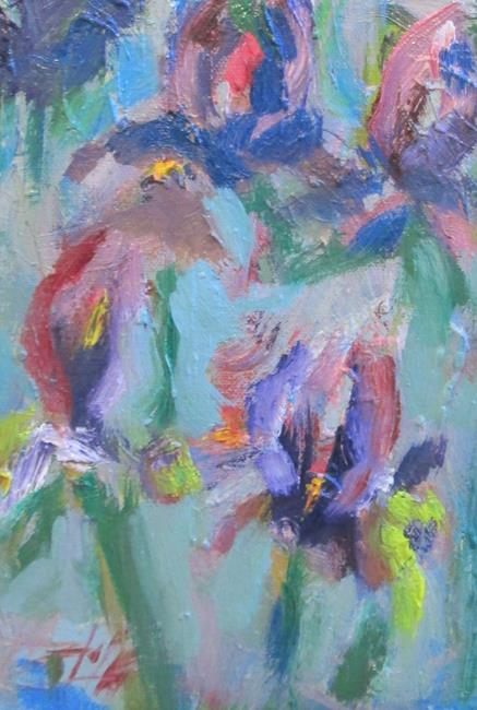Art: Abstract Iris by Artist Delilah Smith