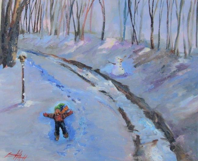 Art: Making Snow Angels by Artist Delilah Smith