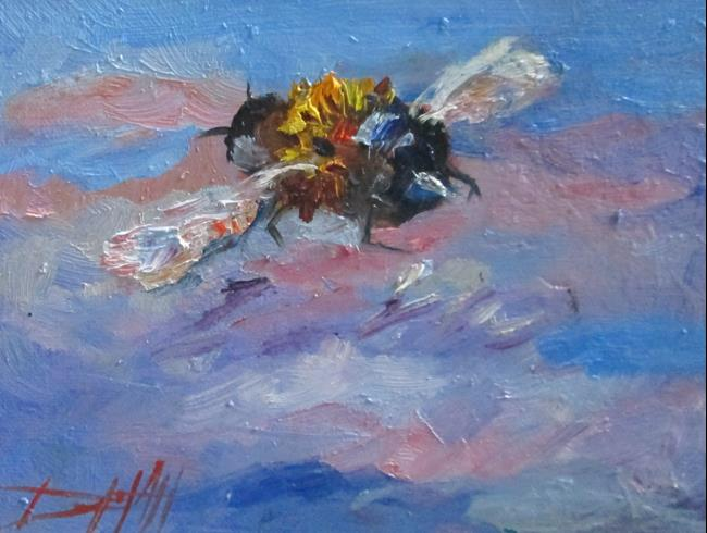 Art: Flight of the Bumble Bee by Artist Delilah Smith