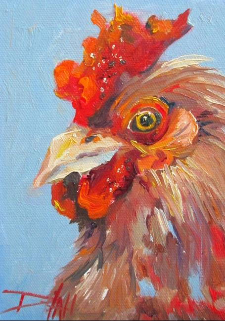 Art: Rooster Looking at You by Artist Delilah Smith