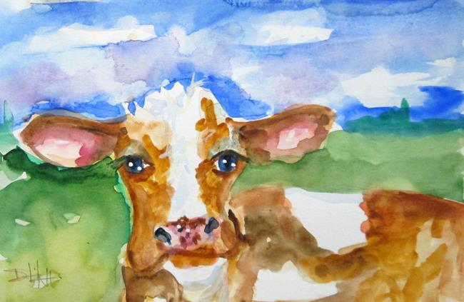 Art: Brown Cow by Artist Delilah Smith