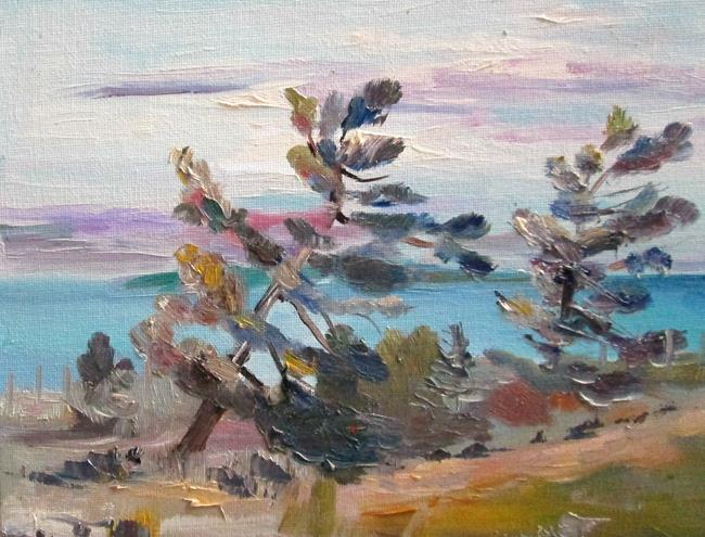 Art: Windy Pines by Artist Delilah Smith