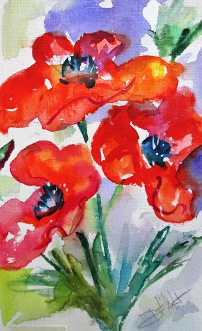 Art: Poppy Garden No. 2 by Artist Delilah Smith
