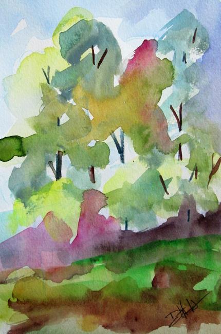 Art: Spring Landscape by Artist Delilah Smith