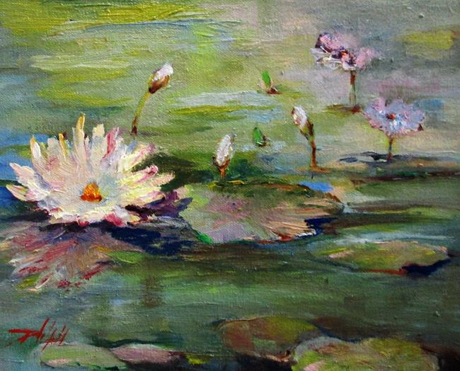 Art: Lily Pond No. 2 by Artist Delilah Smith