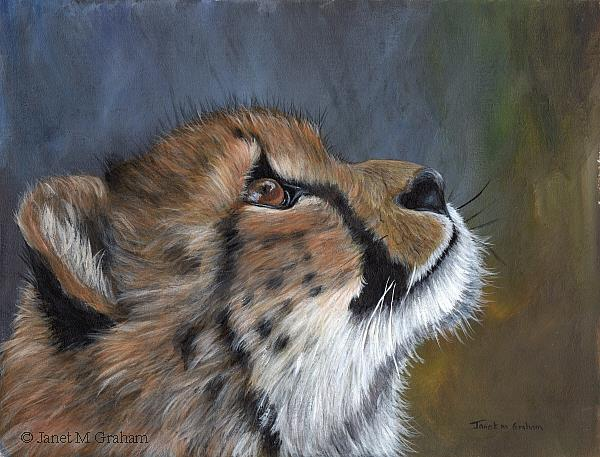 Art: Cheetah Cub by Artist Janet M Graham