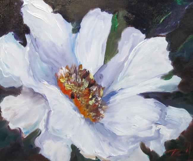 Art: White Flower by Artist Delilah Smith