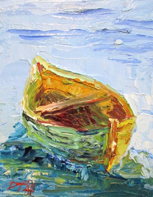 Art: Green Boat by Artist Delilah Smith