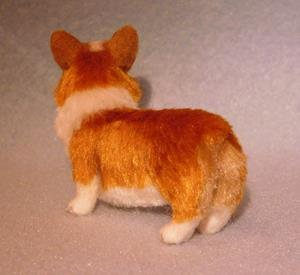 Detail Image for art Silk Furred Pembroke Welsh Corgi