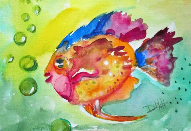 Art: Colorful Fish by Artist Delilah Smith