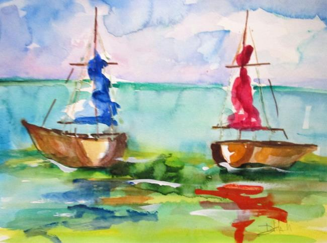 Art: Waiting to Sail by Artist Delilah Smith