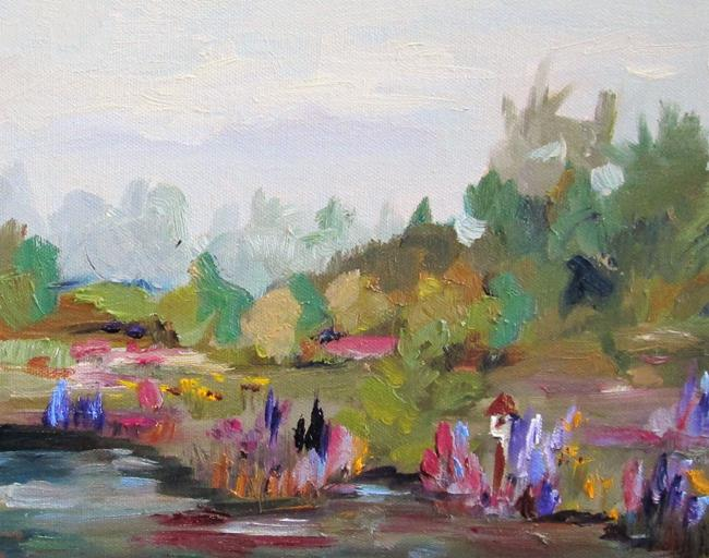 Art: Landscape with a Birdhouse by Artist Delilah Smith