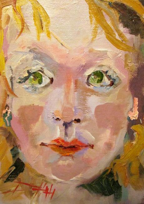 Art: My Green Eyes by Artist Delilah Smith