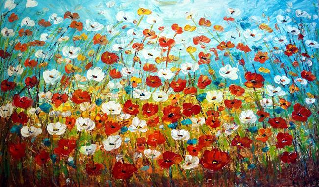 Art: Prairie Field by Artist LUIZA VIZOLI