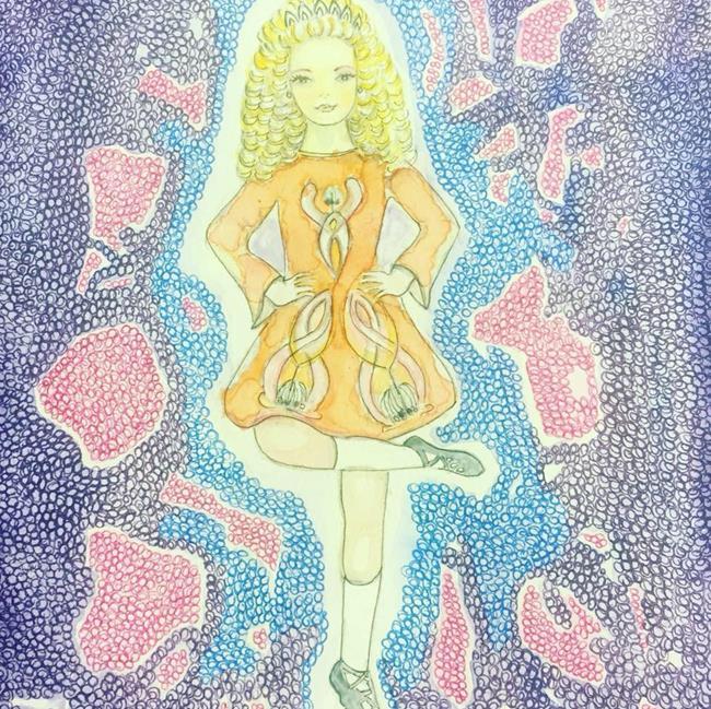 Art: Irish Dancer by Artist Nata Romeo ArtistaDonna