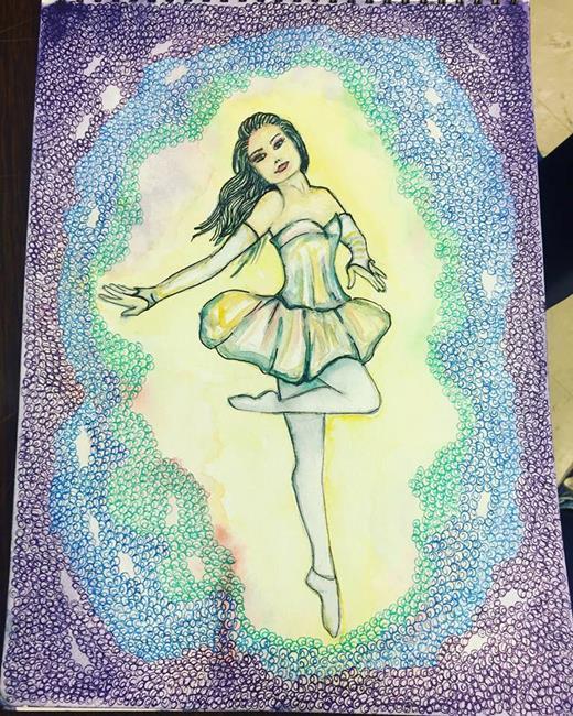 Art: Dancer in the Wind by Artist Nata ArtistaDonna