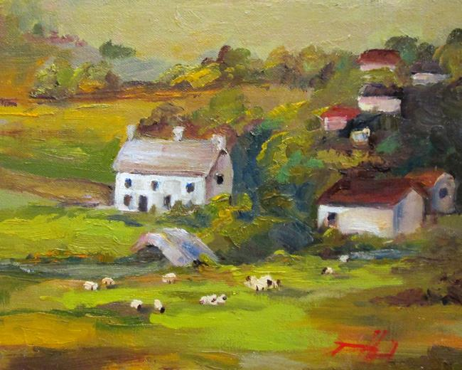 Art: Irish Landscape by Artist Delilah Smith