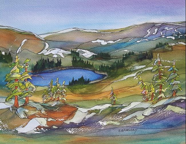 Art: Alpine Treasure (sold) by Artist Kathy Crawshay