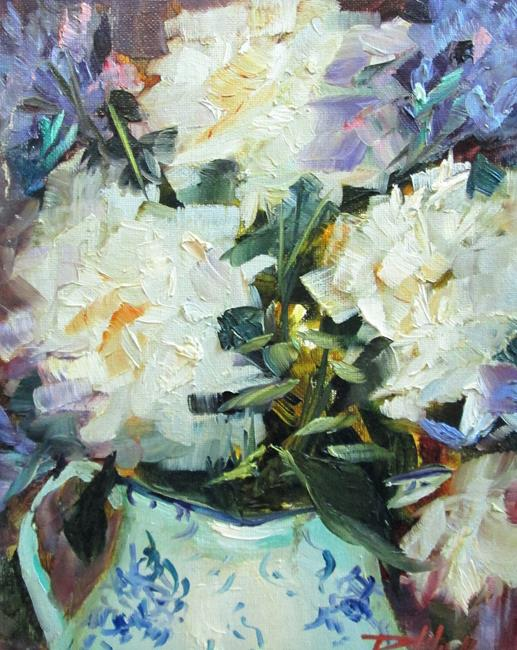 Art: White Hydrangeas by Artist Delilah Smith