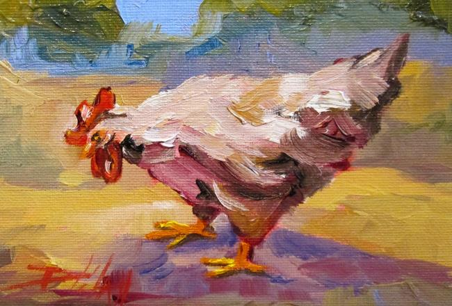 Art: Farm Rooster-sold by Artist Delilah Smith