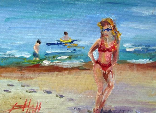 Art: Beach People No 3 by Artist Delilah Smith
