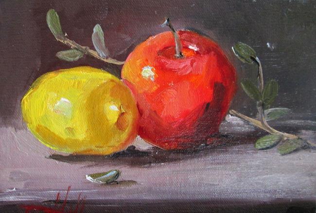 Art: Apple and Lemon by Artist Delilah Smith