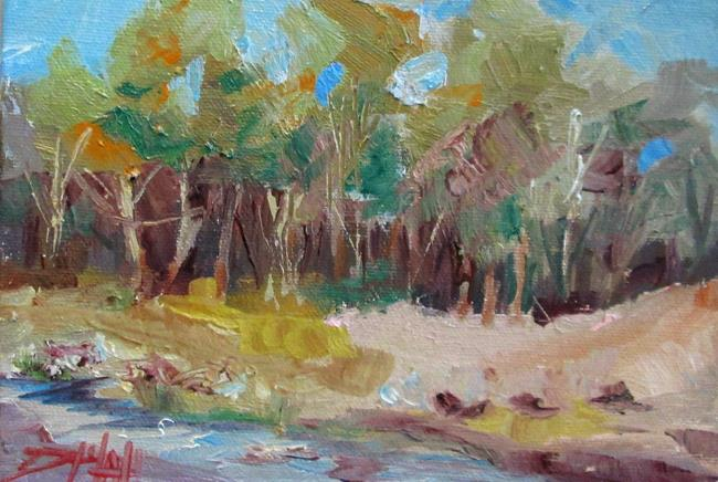 Art: Landscape with a Stream No. 3 by Artist Delilah Smith