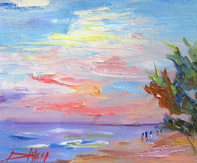 Art: Purple Lake by Artist Delilah Smith