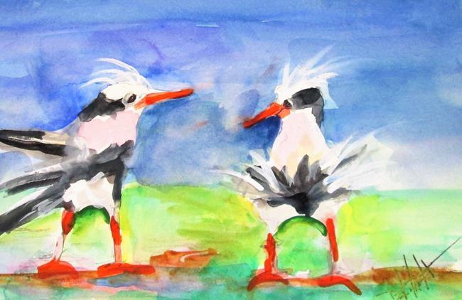 Art: Fluffy Head Gulls by Artist Delilah Smith