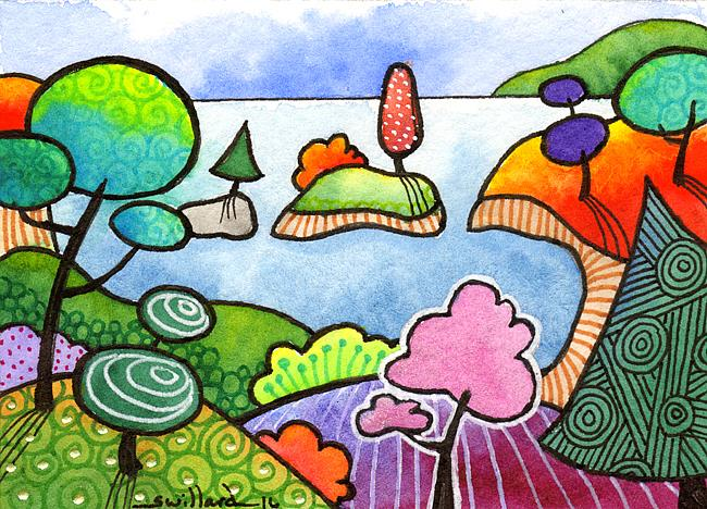 Art: Colorful Cove by Artist Sandra Willard