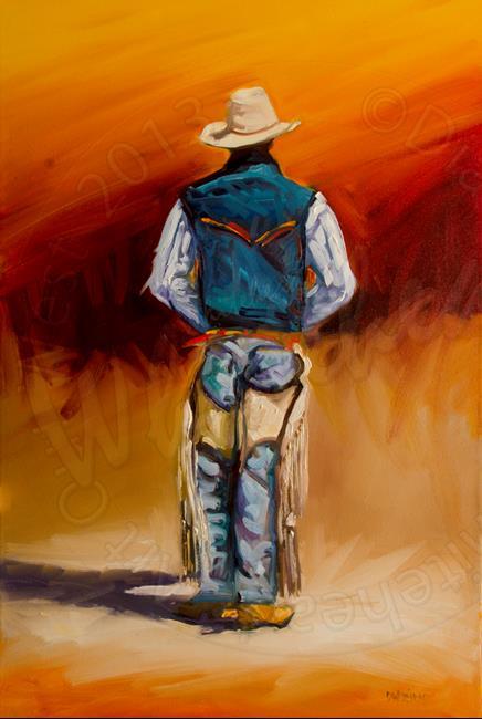 Art: Behind Cowboy by Artist Diane M Whitehead
