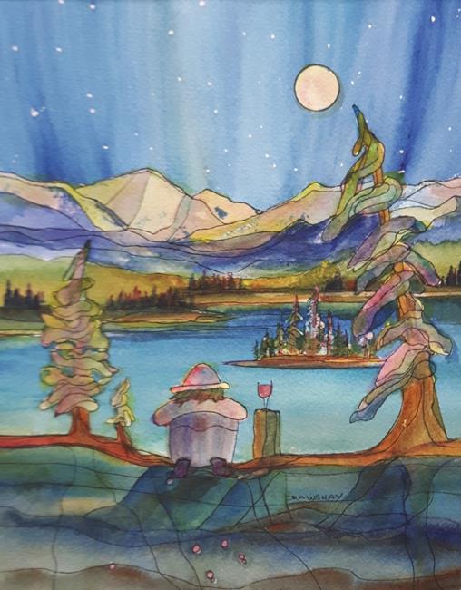 Art: Wild in the Mountains by Artist Kathy Crawshay