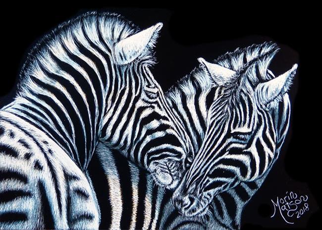 Art: Zebras by Artist Monique Morin Matson