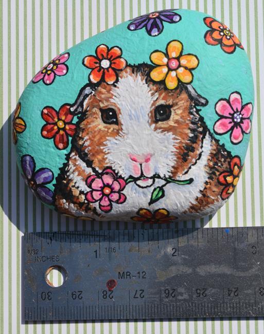 Art: Daisy Guinea Pig by Artist Melinda Dalke