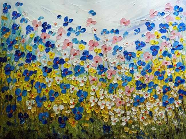 Art: WILDFLOWERS by Artist LUIZA VIZOLI