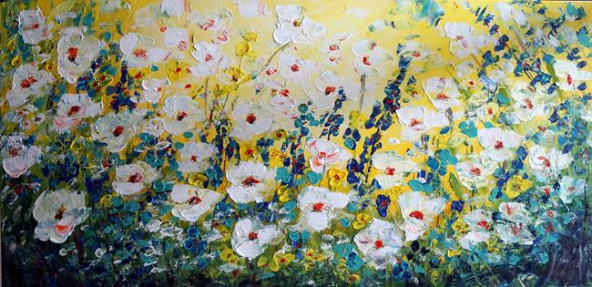 Art: MEADOW FLOWERS by Artist LUIZA VIZOLI