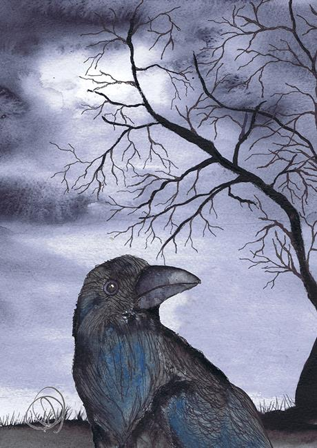 Art: CROW b110 by Artist Dawn Barker