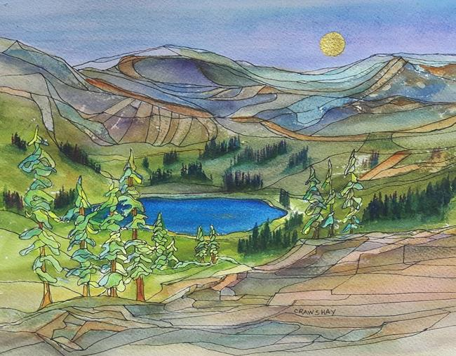 Art: Mountain Gift by Artist Kathy Crawshay