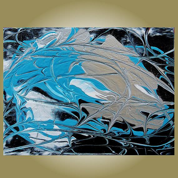 Art: Turquoise Symphony (sold) by Artist Amber Elizabeth Lamoreaux