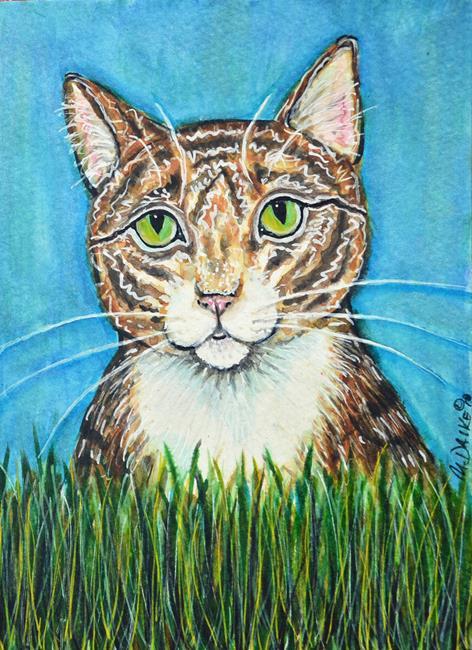 Art: The Hunter Cat by Artist Melinda Dalke