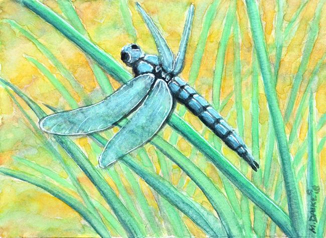 Art: Dragonfly Greens by Artist Melinda Dalke